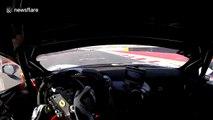 Ferrari 458 GT3 hit by Porsche GT2R during race