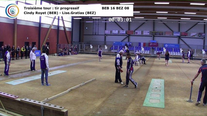 Troisième tour, tir progressif, Club Elite Féminin, J4, Bourg-en-Bresse contre Béziers, novembre 2017
