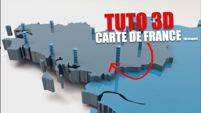 Comment réaliser la carte de France en 3D avec le logiciel C4D !