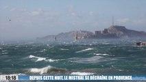 Le 18:18 : mistral violent, mer déchaînée, toit arraché, les images de la tempête qui balaie la Provence