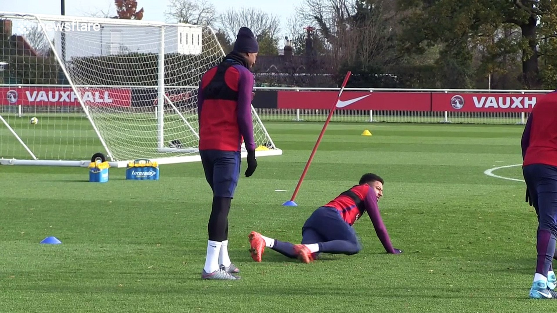 England Training Drills Expertly Carried Out By Jesse Lingard And Marcus Rashford Video Dailymotion