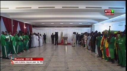 Le Président Macky Sall reçoit les lions du football