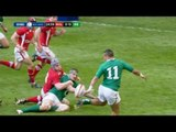 Cian Healy Try Wales v Ireland Rugby Match 02 Feb 2013