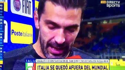 Lágrimas Buffon por no entrar al Mundial