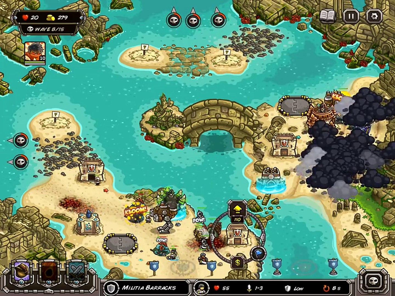 Kingdom Rush Frontiers Walkthrough Level 18 The Sunken Citadel [Veteran] [3  Stars]