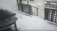 Hail Blankets Parts of Auckland Like Snow