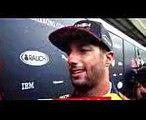 F1 2017 Brazilian GP free practice 2 Daniel Ricciardo reaction