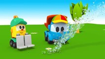 Leo the truck Full Episodes #4. Truck cartoon & car cartoon. Leo the truck English & Leo truck.-PSfwzGVXU4Y