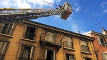 Intervention des pompiers pour un incendie rue Thizy à Villefranche-sur-Saône