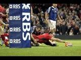 Super Sam Warburton Try - Wales v France 21st February 2014