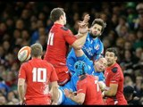 Sergio Parisse disallowed try after knock-on - Wales v Italy 1st February 2014