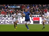 Typical French flair with length of field break!   RBS 6 Nations
