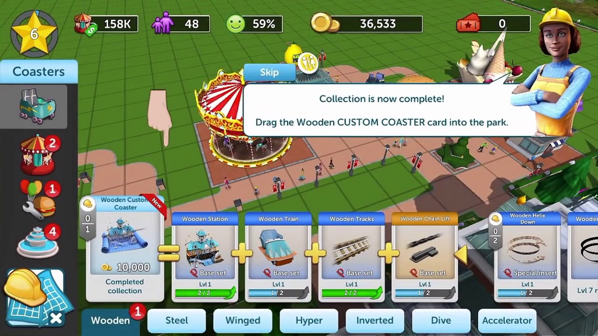 RollerCoaster Tycoon Touch - Gameplay