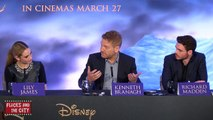 Cinderella Cast Interviews - Lily James, Richard Madden, Holliday Grainger, Kenneth Branagh