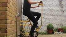 Ce vélo accroché au mur.. est un Ascenseur à pédales !