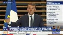 """""""Éloigner les délinquants de leur quartier"""". L'idée de Macron pour sécuriser les banlieues"""