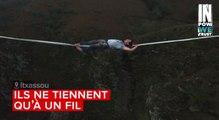 Pays basque : des slacklineurs jouent les équilibristes à Itxassou