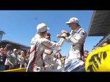 Joy for Porsche team after winning 24 Hours of Le Mans