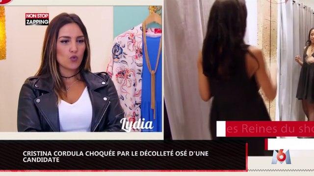 Cristina Cordula choquée par le décolleté plongeant d'une candidate des reines du shopping (Vidéo)