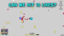 BECOMING THE BIGGEST TANK! EASY LEVEL UP AND MAX LEVEL (DIEP.IO or DIEPIO - NEW AGAR.IO/SLITHER.IO)