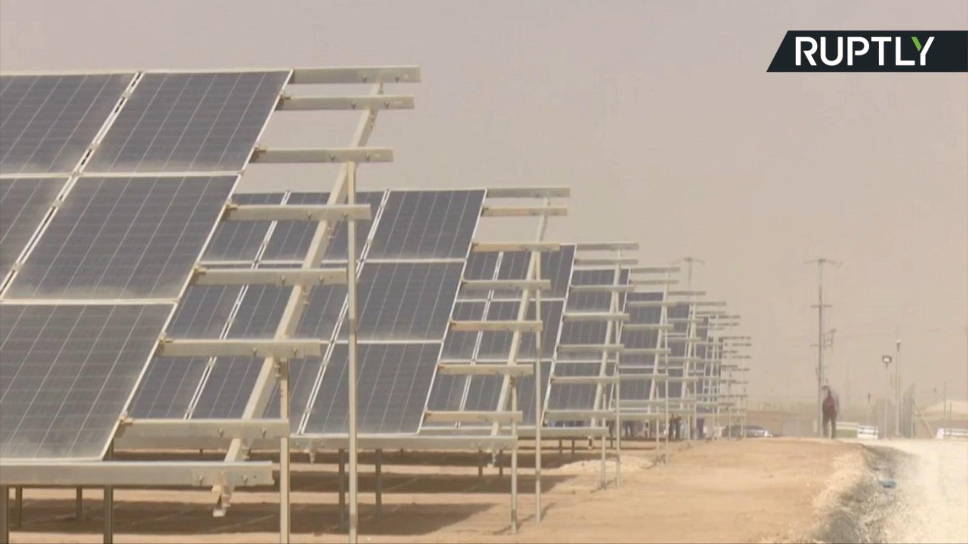 الأردن يطلق محطة للطاقة الشمسية في مخيم الزعتري