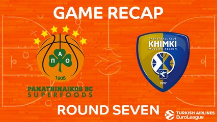 EuroLeague 2017-18 Highlights Regular Season Round 7 video: Panathinaikos 93-65 Khimki