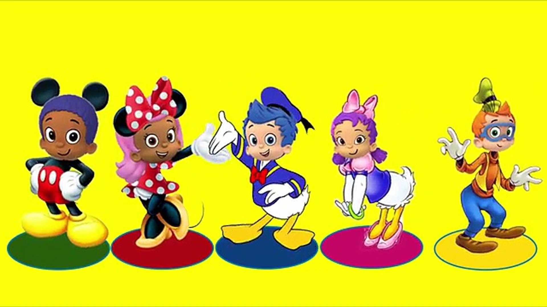 Learn Colors Finger Family Mickey Mouse Bubble Guppies Full Episodes Nursery Rhymes For Kids Dailymotion Video