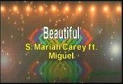 Mariah Carey ft Miguel Beautiful Karaoke Version