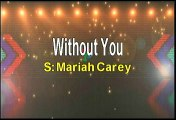 Mariah Carey Without You Karaoke Version