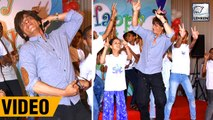Shah Rukh Khan DANCES With Kids On Children's Day