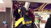 À New York, LeBron James et ses coéquipiers prennent le métro pour éviter les bouchons