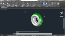 AutoCAD 3D Modelling Tutorial | How to create 3D Tire in AutoCAD