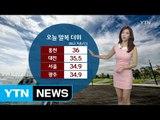 [날씨] 내일도 '찜통더위'...밤사이 곳곳 열대야 / YTN (Yes! Top News)