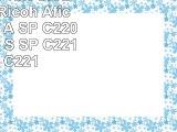 Eurotone Print Cartridges für Ricoh Aficio  SP C220 A SP C220 N SP C220 S SP C221 N