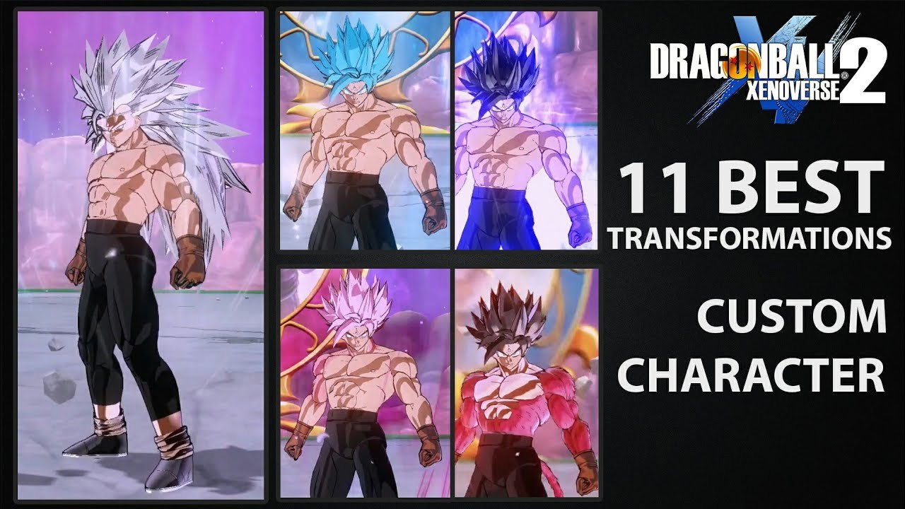 Best Transformation MODS for Cac - Custom Character | Dragon Ball Xenoverse  2 MODS