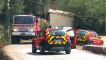 ITV des pompiers et images du feu