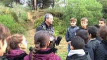 Quelques images des enfants plantant les arbres