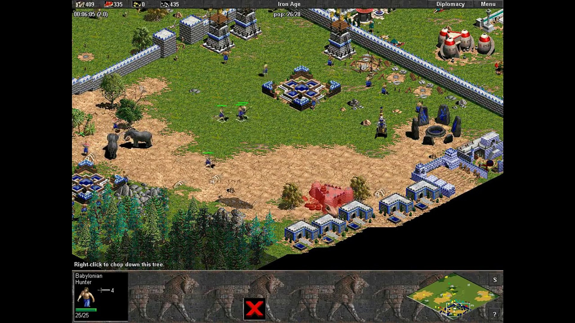 Babylon vs 7 Hardest Computers. Random Map. Age of Empires. Rise of Rome.