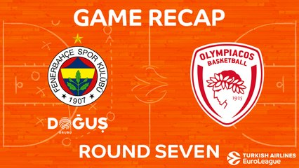 EuroLeague 2017-18 Highlights Regular Season Round 7 video: Fenerbahce 83-90 Olympiacos