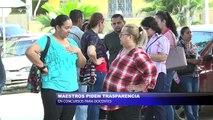 Maestros piden transparencia en concursos para docentes