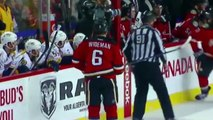 Calgary Flames Hockey Player Cross-Checks Referee!