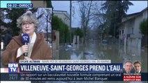 À Villeneuve-Saint-Georges, des déchets flottent dans les rues
