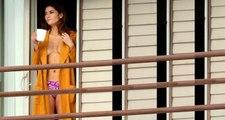 Balkona Kahve İçmeye Çıkan Oyuncu Blanca Blanco, Yarı Çıplak Paparazzilere Yakalandı