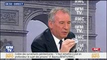 """""""Le président de la République ne doit pas céder, il a été élu principalement sur cette réforme institutionnelle"""", déclare François Bayrou"""
