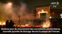 Prisons: les blocages se poursuivent, l'accès à Fresnes dégagé