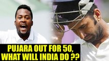 India vs South Africa 3rd test: Pujara dismissed for 50 runs, India in heap of trouble | Oneindia