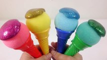 DIY How To Make Manicure Colors Slime Learn Colors Glitter Silme Clay Icecream Toys