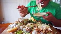 Ăn Bánh Cuốn | Vietnamese Steamed Rice Rolls | MUKBANG | QT