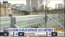 Crue de la Seine : des barrières anti-inondations installées à Paris