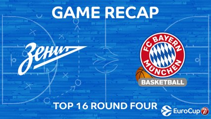 7Days EuroCup Highlights Top 16, Round 4: Zenit 78-80 Bayern